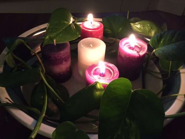 Advent wreath week 3 joy