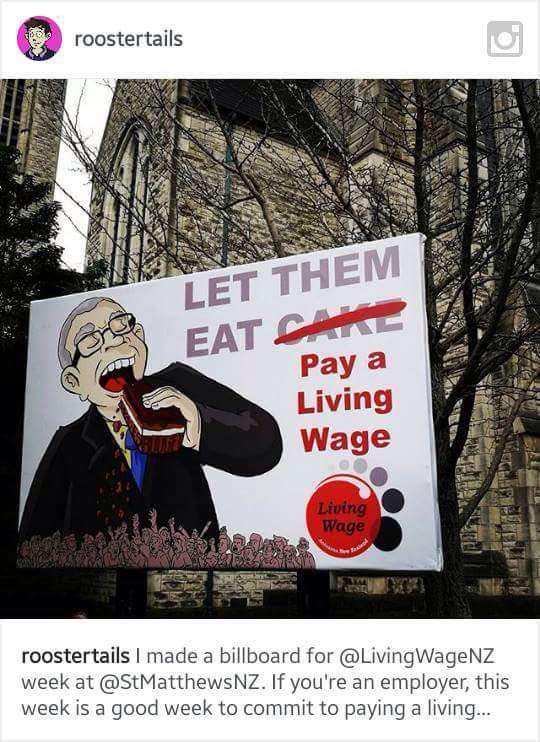 New Zealand Living Wage Movement Banner