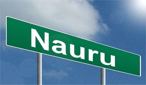 photo of sign saying Nauru. Location of the offshore immigration detention facility that is the subject of the Nauru Files leak.