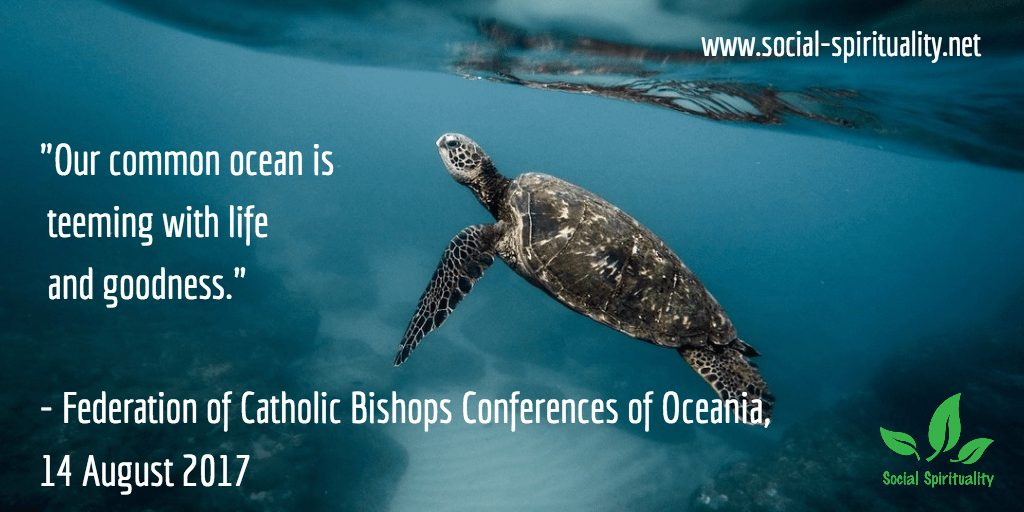 """Our common ocean is teeming with life and goodness."" Federation of Catholic Bishops Conferences of Oceania, 14 August 2017."